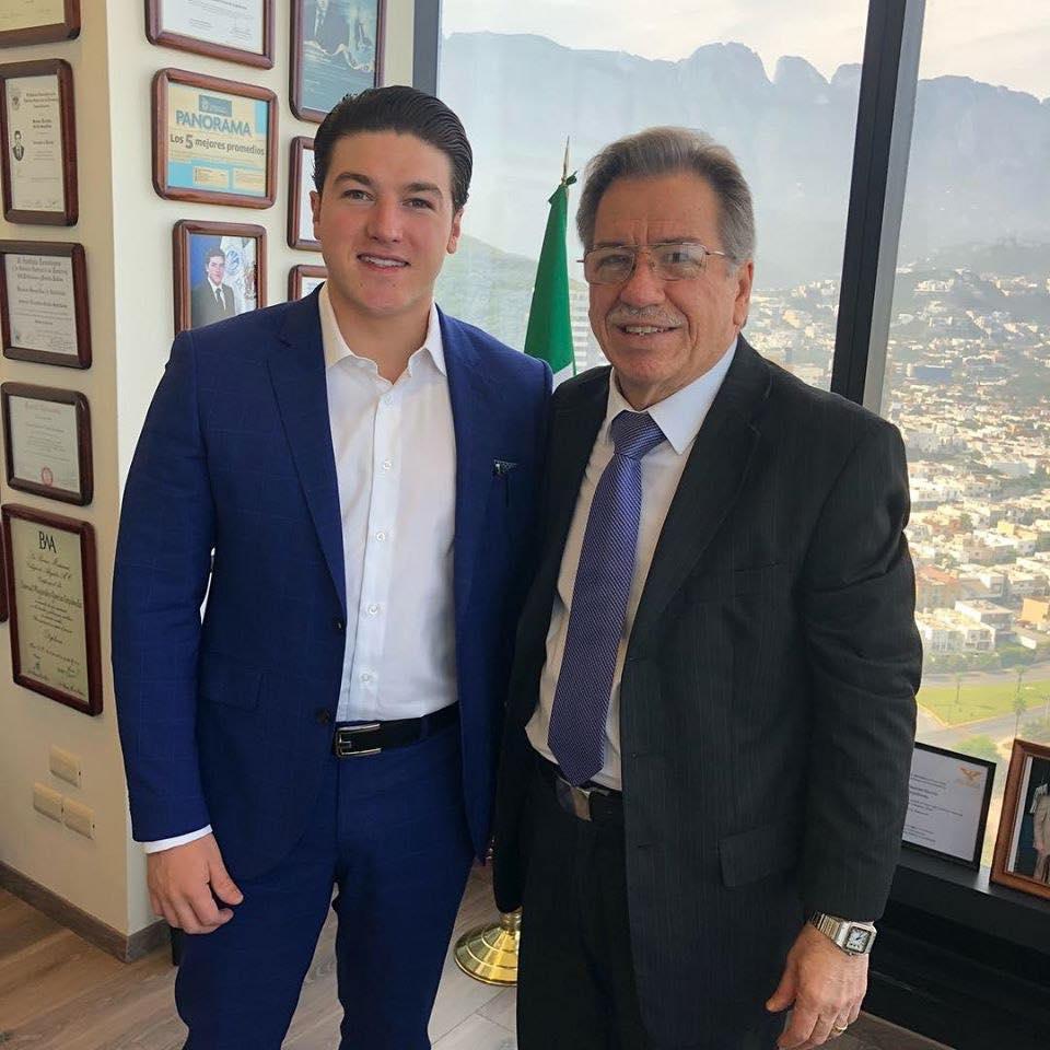 Samuel García y su papá