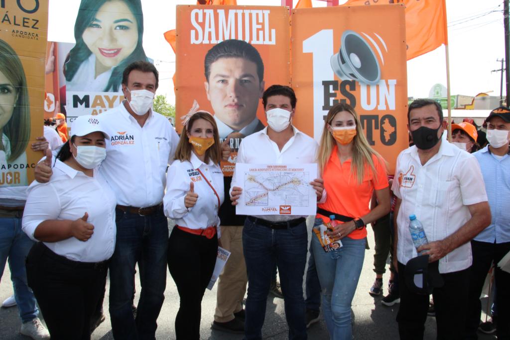 Samuel se compromete a concretar tren García-Aeropuerto
