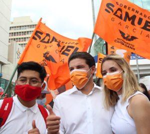 Gracias a tu apoyo sacaremos a la vieja política. Samuel García.